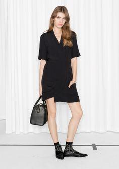 & Other Stories image 2 of Kimono Wrap Dress in Black