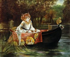 Waterhouse - The Lady of Shalott by Susan Herbert.
