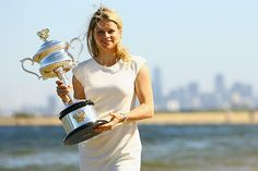 Belgian tennis star Kim Clijsters won the Australian Open women's grand slam title for the first time defeating Li Na of China 3-6, 6-3, 6-3... In 2011.