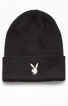 Add some iconic Playboy branding to your street-inspired style with the PacSun x Playboy Collection. The Logo Beanie has an embroidered logo on the front and a soft and stretchy knit fabric. Beanie Outfit, Cute Beanies, Cute Hats, Pacsun, Bennies Hats, Playboy Logo, Black Beanie, Accesorios Casual, Cute Casual Outfits