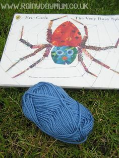 The Very Busy Spider Web inspired by Eric Carle
