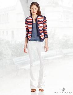 Trina Turk Women's Greta Stinson Beach Stripe Jacket