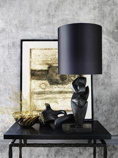 Danseur Lamp, Aurora Bowl & Reclining Figure. Porta Romana