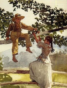On the Fence by Winslow Homer Winslow Homer was an American landscape painter and printmaker, best known for his marine subjects. He is considered one of the foremost painters in 19th-century America and a preeminent figure in American art.