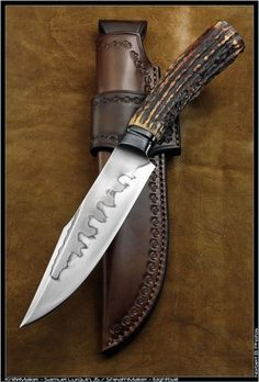 Cool Knives, Knives And Tools, Knives And Swords, Trench Knife, Swords And Daggers, Knife Sheath, Handmade Knives, Fixed Blade Knife, Custom Knives