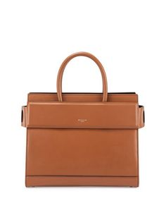 Horizon+Medium+Leather+Satchel+Bag,+Caramel+by+Givenchy+at+Neiman+Marcus.