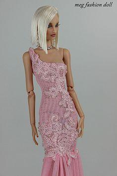 outfit for Doll / Deva Doll / Modsdoll / Numina / 46 Barbie Dolls Diy, Diy Barbie Clothes, Barbie Clothes Patterns, Pink Fashion, Fashion Dolls, Fashion Art, Barbie Gowns, Barbie Dress, Barbie Mode