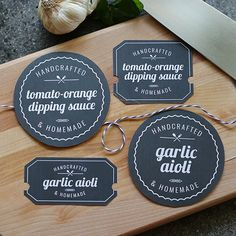 Printable Food Labels and Recipe Cards