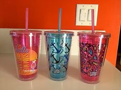 Cup Straw Double Wall Insulated Summertime Beach Pinterest The World S Catalog Of Ideas