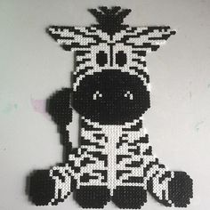 Zebra perler beads by m.barkani - Pattern: https://de.pinterest.com/pin/374291419013031044/