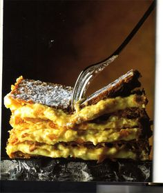 Mille-feuille (French for 'a thousand leaves'). French Patisserie, Flaky Pastry, Hungarian Recipes, Cooking Recipes, Healthy Recipes, Recipes From Heaven, Calories, Winter Food, Cravings
