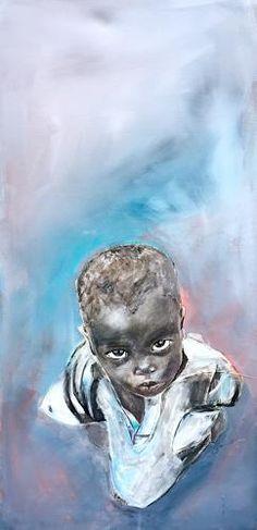 """Ursi Goetz, """"Junge"""" Mit einem Klick auf """"Als Kunstkarte versenden"""" versenden Sie kostenlos dieses Werk Ihren Freunden und Bekannten. Lion Sculpture, African, Statue, Inspiration, Guys, Painting Art, Cards, Children, Biblical Inspiration"""
