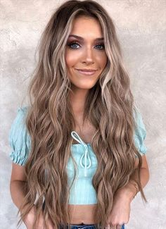 Lavender Hair Colors, Hair Dye Colors, Gorgeous Hair Color, Cool Hair Color, Inspo Cheveux, Summer Hair Color For Brunettes, Summer Brunette, Brown Hair Balayage, Blonde Ombre
