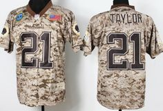 Nike Washington Redskins #21 Sean Taylor 2013 USMC Camo Elite Jersey