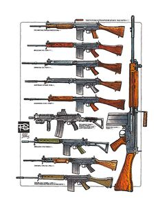 THE FN FUSIL AUTOMATIQUE LEGER COLOR PRINT