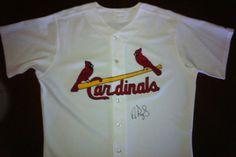 St. Louis Cardinals Albert Pujols Autographed Hand Signed Baseball Jersey