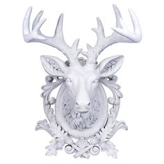 Aspen Deer Wall Trophy White by Gift Company $144