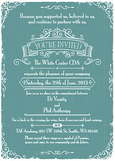 Formal Invitation Inspiration   Inspiration  Posters