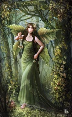Brooke Gillette Fairy Art Leaves of Greens