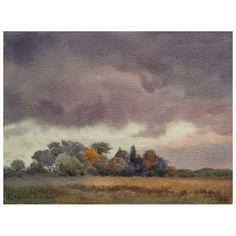 Schemering / Dusk  Watercolor, 27x36 cm on Arches 140 lb rough. 050716 - € 550