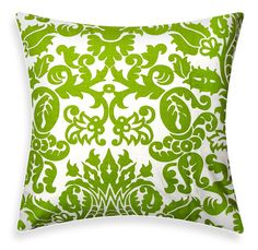 ModDiva: Green Throw Pillows. Accent for my couch?