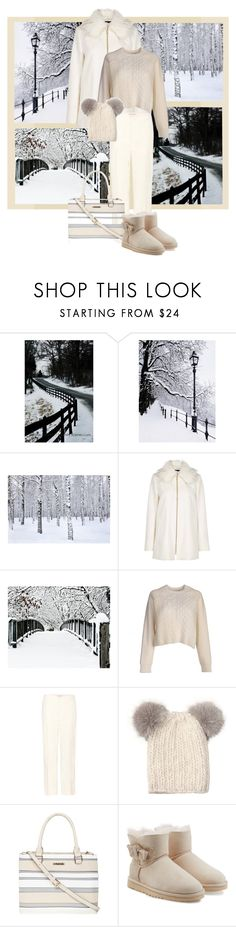 """Walking in a (White) Winter Wonderland"" by my-pretend-closet ❤ liked on Polyvore featuring Marni, Eugenia Kim, Dorothy Perkins and UGG"