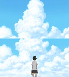 時をかける少女 Mamoru Hosoda, Above The Clouds, Anime, The Girl Who, Shoujo, Studio Ghibli, Scene, Animation, Japanese