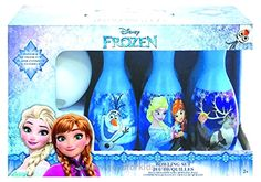 Frozen Bowling Set BUY NOW     $12.03    Bowling set includes 1 plastic ball and 6 plastic pins in different colors and with a different Frozen image on each pin.Each  ..  http://www.joysforkids.top/2017/03/23/frozen-bowling-set/