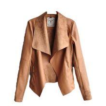 Primavera otoño 2015 nueva moda europea y americana mujeres capa delgada Thin corto Pu chaqueta de cuero ropa Chaquetas Mujer(China (Mainland))
