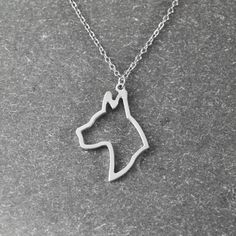 Shark charm necklace silver shark necklace great dane necklace aloadofball Gallery