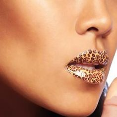 Wholesale Fashion Temporary Lips Tattoo Classic Leopard Print Lipstick Art Make-up 22# (22#), Makeup Tools - Rosewholesale.com