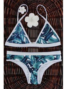 SHARE & Get it FREE | High-Cut Leaf Print Bikini SetFor Fashion Lovers…