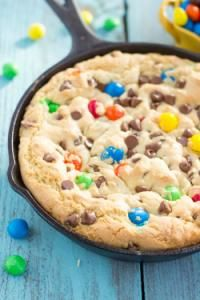 Skillet Monster Pizookie on MyRecipeMagic.com. This is the best dessert and so easy to make!