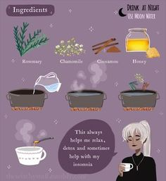 Tea for the Soul ✨ Witchy Tip: This tea works in the night and remember to use moon water for better results ♡ On a personal note, I… Witch Spell Book, Witchcraft Spell Books, Green Witchcraft, Wiccan Spells, Magick, Wiccan Witch, Witchcraft For Beginners, Herbal Magic, Baby Witch