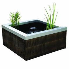 Find best price for Pond Boss Patio Pond Square Rattan with white LED Light, Chestnut Brown Outdoor Dining Set, Outdoor Decor, Outdoor Ideas, Outdoor Living, Outdoor Play, Outdoor Spaces, Patio Kits, Pond Kits, Patio Pond