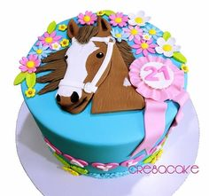 horse cake with pond - Yahoo Image Search Results Horse Birthday Parties, Cowgirl Birthday, Birthday Cake Girls, Horse Birthday Cakes, 7th Birthday, Cupcakes, Cake Cookies, Cupcake Cakes, Western Theme Cakes