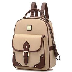 Retro British Fashion Travel Bag Shoulder Bag Buckle Backpack - lilyby