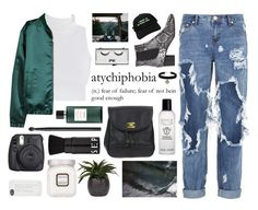 """""""Untitled #2830"""" by tacoxcat ❤ liked on Polyvore featuring H&M, OneTeaspoon, Isabel Marant, Pop Beauty, Bobbi Brown Cosmetics, Chanel, Topshop, Hermès, NARS Cosmetics and Flying Coffin"""