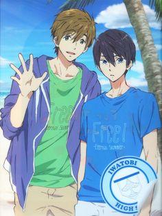 MakoHaru ♡ Makoto Tachibana x Haruka Nanase (Free! Iwatobi Swim Club, Free! Eternal Summer and High☆Speed!)