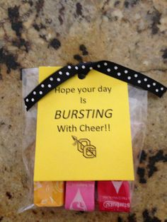 "Change to ""Hope your day is bursting with good luck!""  or ""   ""Hope your tourney days are bursting with great plays!"""