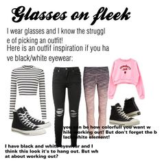 """""""Glasses on fleek"""" by antobiscuit on Polyvore featuring beauty, Miss Selfridge, AMIRI, Converse and Zella"""