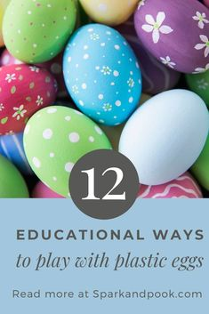 This list of a dozen different educational ways to play with plastic Easter eggs can be used with toddlers, preschoolers, and older kids. Many of the egg activities can be played indoors or outdoors. Learning Games For Kids, Educational Activities For Kids, Counting Activities, Play Based Learning, Easter Activities, Spring Activities, Book Reviews For Kids, Plastic Easter Eggs, Kids Board