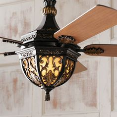 Spanish Style Outdoor Sconces | Looking for more than just a ceiling fan? The Lambrusco Ceiling Fan is ...