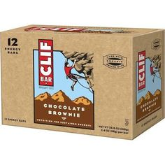 Clif Bar Chocolate Brownie 12 (2.4 oz.) bars per box