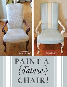Paint fabric using watered down chalk paint!