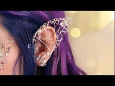 Disney's Maleficent's Wings Ear Cuff Polymer Clay Tutorial / Arcilla Polimérica…