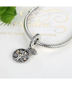 Silver Dangle Charm. Pandora Fits. Free Shipping #tree #charm #silver Pandora Bracelet Charms, Silver Charm Bracelet, Silver Charms, Tree Shapes, Tree Of Life, Washer Necklace, Dangles, Pin Pin, Charmed