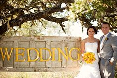 Modern Rustic Vintage Yellow & Grey Ranch Wedding - Bridal Musings Wedding Blog
