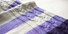 How to Knit a Cabled Blanket: a free pattern to accompany the book Idiot's Guide: Knitting