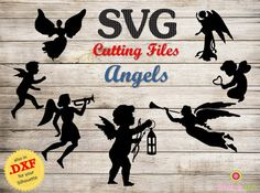 INSTANT DOWNLOAD Cutting Files Angels .svg and by Schnookywoo